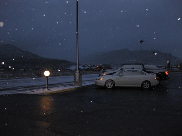 snow parking lot south fork